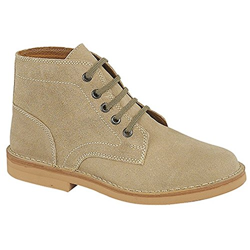 Real Mens Dark Taupe Suede Roamer Leisure Boots 5qawX5dg