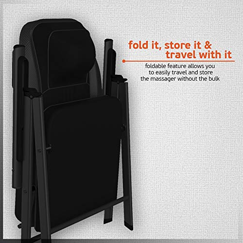 Folding Chair Heat Relief, Portable Chair Kneading USB Shoulder