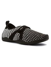 Jambu Womens JSport Cycle Vegan Water Shoe,Black/White Neoprene/Microsuede/Mesh