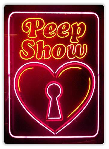 (Peep Show Keyhole Metal Wall Sign Plaque Art Taboo Rude Porn)