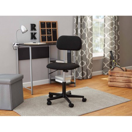 Office Chairs, Swivel Seat and Fabric Task Chair, Black