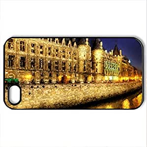 Beautiful Palace - Case Cover for iPhone 4 and 4s (Monuments Series, Watercolor style, Black)