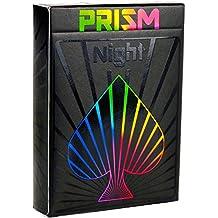 [Patrocinado] Cartas para jugar Prisma, mazo de cartas con cubierta negra para rayos ultravioleta, brillante Cartas tamaño estándar para Poker e índices por Elephant Playing Cards., negro