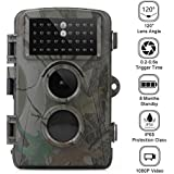 SANSHUREN Hunting Camera Wildlife Scounting Camera with Night Vision up 65FT 2.4 inch LCD Screen and IP56 Waterproof Game Cam for Wildlife Monitoring