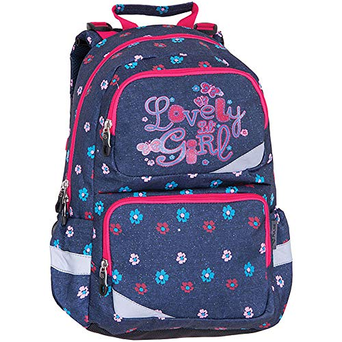 Backpack Construction School - PULSE School Backpack for Girls - Durable Waterproof Outdoor Sports & Travel Backpack with Anatomic Construction - 22L