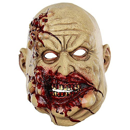 Halloween Horror Bloody Butcher Zombie Mask The Walking Dead Cosplay Props