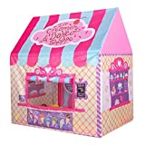 Abplus Pink Portable Kids Tent Princess Castle Baby Sleeping Combo Playhouse Indoor Outdoor Children's Picnic Toys ,Girls Personal Playing Zone