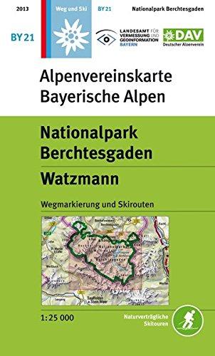 Nationalpark Berchtesgaden, Watzmann: Wegmarkierungen - Topographische Karte 1:25000 (Alpenvereinskarten)