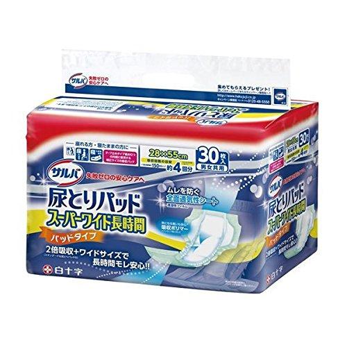 白十字 尿とりパッド サルバ尿とりPスーパーワイド長時(30枚×6袋)ケース B07D1JS9D6