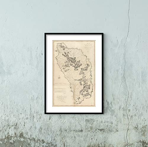 1776 Map Title: Map of The Island of Dominica, Laid Down by Actual Survey Under The Direction of The