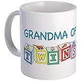 CafePress - Grandma Of Twins Mug - Unique Coffee Mug, Coffee Cup