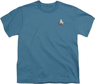 Star Trek - T-shirt - Manches Courtes - Opaque - Garçon Gris gris
