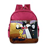 Toddler Kids Tweety And Sylvester School Backpack Fashion Baby Children School Bags Pink