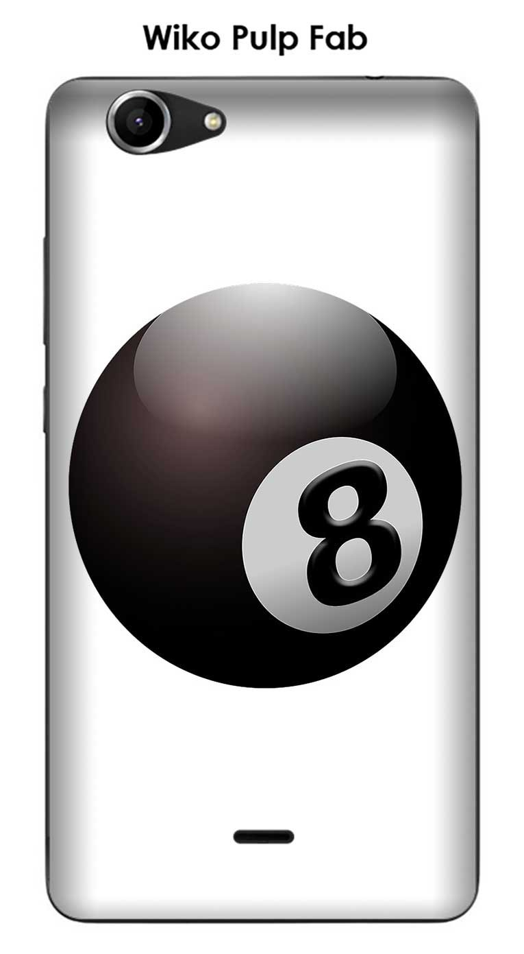 Carcasa Wiko Pulp Fab diseño bola de billar N ° 8 puerta ...