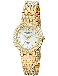 Akribos XXIV Womens AK757YG Lady Diamond Gold-Tone Watch