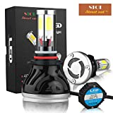 Street cat® 9005 (HB3) LED Headlight Bulbs Conversion Kit All-in-one 40W 4000LM (x2) 6000K Daylight with Rainproof driver.