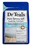 Dr Teals Pure Epsom Salt Soaking Solution, Detoxify & Energize with Ginger & Clay, 3 Pound Bag
