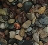 Safe & Non-Toxic {Various Sizes} 15 Pound Bag of Gravel, Rocks & Pebbles Decor for Freshwater & Saltwater Aquarium w/ Earthy Toned River Inspired Rustic Natural Sleek Style [Tan, Gray & Red]