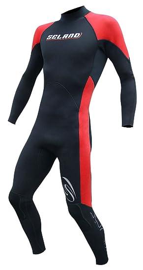 Seland SOMO Traje de Neopreno Surf. 3/2 mm. Rojo y Negro ...