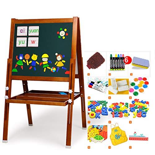 Easel - Children's Drawing Board Double-Sided Magnetic Bracket Small Blackboard Writing Board Children's Drawing Board Height Adjustable (Color : ()