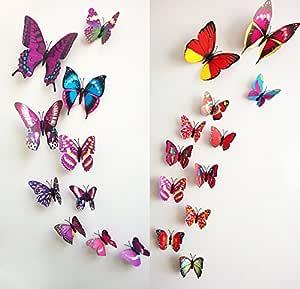 El imán estéreo 3D hermoso mariposas coloridas pegatinas