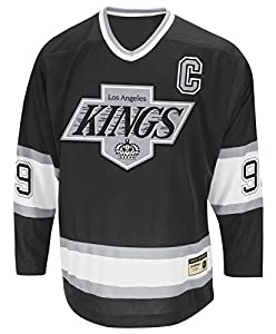 "Wayne Gretzky Los Angeles Kings CCM ""Heroes of Hockey"" Authentic Black Jersey"