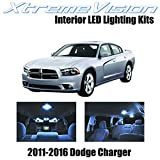 XtremeVision Dodge Charger 2011-2016 (16 Pieces) Cool White Premium Interior LED Kit Package+Installation