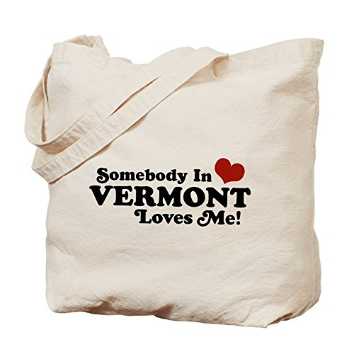 CafePress - Somebody In Vermont Loves Me - Natural Canvas Tote Bag, Cloth Shopping - Vt Bag Shopping