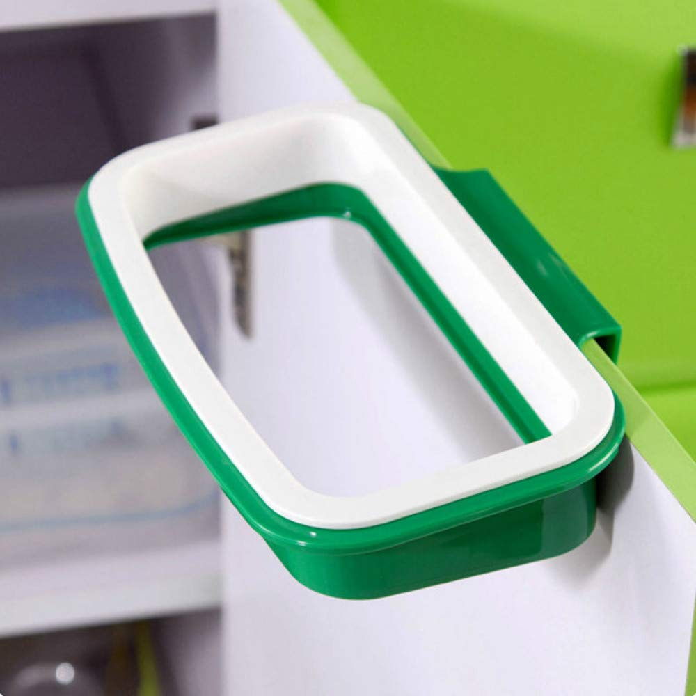 Hihamer Trash Bag Holder Garbage Plastic Bracket for Kitchen Cabinet Cupboard Storage Stand Rack Hanger Green