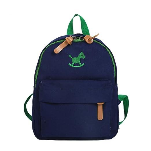 7eedc18075a9 Children Baby Boys Zipper Cute Cartoon Horse Animal Schoolbag Toddler  Travel Backpack (8.2(L