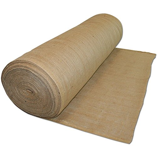 AK TRADING Long Hessian Natural Jute Decoration Burlap Rolls 60