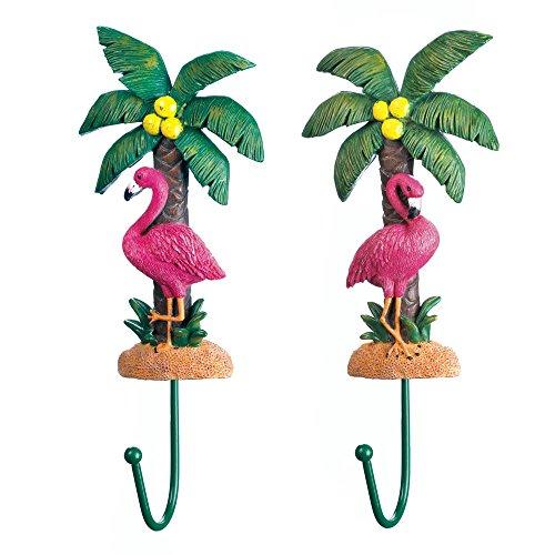 Zings & Thingz 57073929 Flamingos Wall Hook Duo, Pink