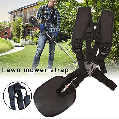(Smartey Lawn Mower Straps Environmentally Friendly Adjustable Double Shoulder Harness Strap Comfort Nylon Belt High Trimmer Shoulder Strap for Trimmers Brushcutters Strimmer Harness )