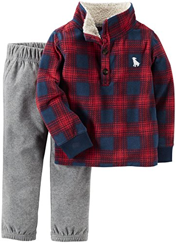 Carter's Baby Boys' 2 Piece Playwear Sets, Plaid, 6 Months