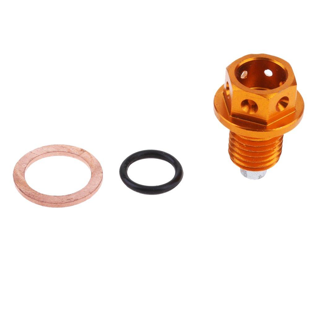 Homyl Magnetic Oil Drain Plug Bolt for YAMAHA SRX400 1985-99 XJR400/R/S 1993-08 FZ6/R 2004-2017 SRX600 1985-1994 MT-07 14-17 FZ8 11-14 YZF-R1 98-14 Gold