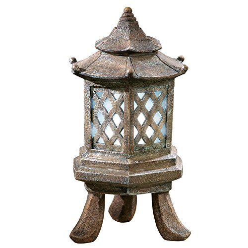 Solar Powered Asian Pagoda Style Lantern