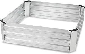 Galvanized Raised Garden Bed, Metal Planter Box Kit for Vegetables Flower Herb, 39x39x12 in