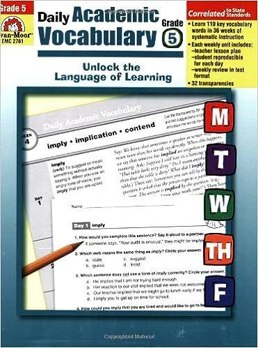 Daily Academic Vocabulary, Grade 5: Evan Moor: 9781596732049 ...