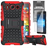 Microsoft Lumia 950 Grenade Combat Case by ElBolt - Red with Free HD Screen Protector [Does not fit XL Version]