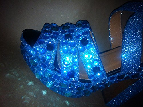 Jeweled and shimmered special occasion heels, completely custom made. Sparkly bridal heels in any color. Bling heels for engagement party, bridesmaids, flower girls, fancy party shoes! -