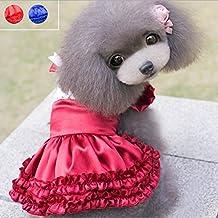 GigaMax(TM) Summer Fashion Pet Dog Puppy Wedding Party Lolita Satin Skirt Clothes Tutu Princess Dress Chihuahua Poodle Apparel