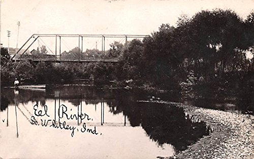 Eel River South Whitley, Indiana postcard