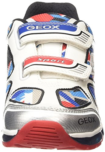 GeoxAndroid A - Zapatillas para chico Blanco - White (White/Multicolor)