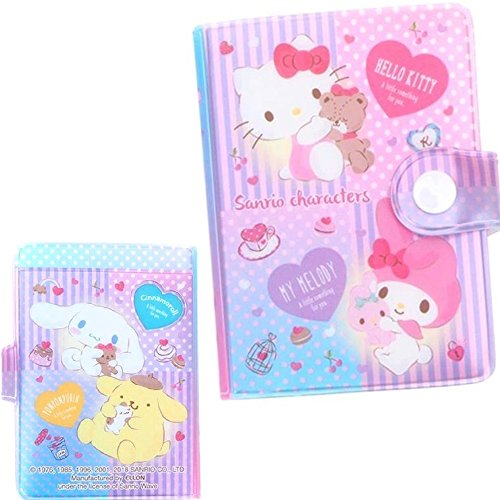 Mix Characters Hello Kitty My Melody Pompompurin Cinnamoroll Business ID Credit Card Holder Case 24 Pockets (Kitty Business Card)