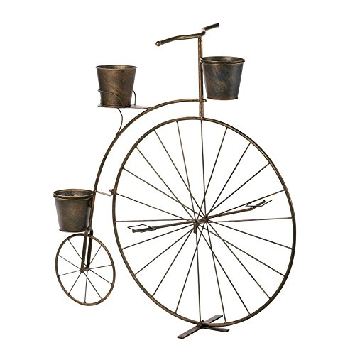 Old fashioned bicycle plant stand planter display garden decor in the uae see prices reviews - Bicycle planter stand ...