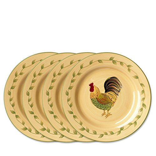 Pfaltzgraff Napoli Rooster Salad Plate, 9-Inch, Set of (Rooster Dishes)