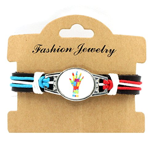 Sykdybz 100% Hand Woven Leather Autistic Bracelet, Four Quarter Wreath Bracelet,Four
