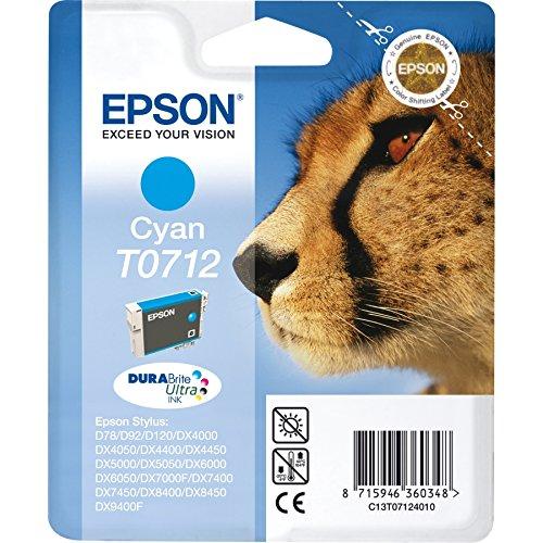 Epson Cartucho T0712 cian - Cartucho de tinta para impresoras ...