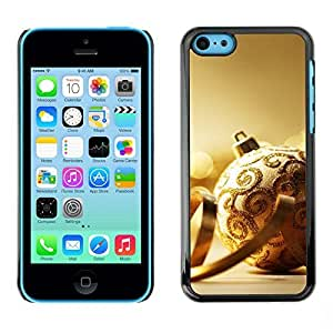 YOYO Slim PC / Aluminium Case Cover Armor Shell Portection //Christmas Holiday Gold Decoration Ball 1101 //Apple Iphone 5C