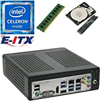 E-ITX ITX350 Asrock H270M-ITX-AC Intel Celeron G3930 (Kaby Lake) Mini-ITX System , 4GB DDR4, 120GB M.2 SSD, 2TB HDD, WiFi, Bluetooth, Pre-Assembled and Tested by E-ITX